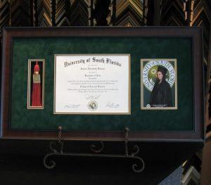 diploma custom framing