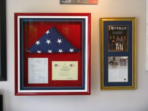 military keepsakes framed